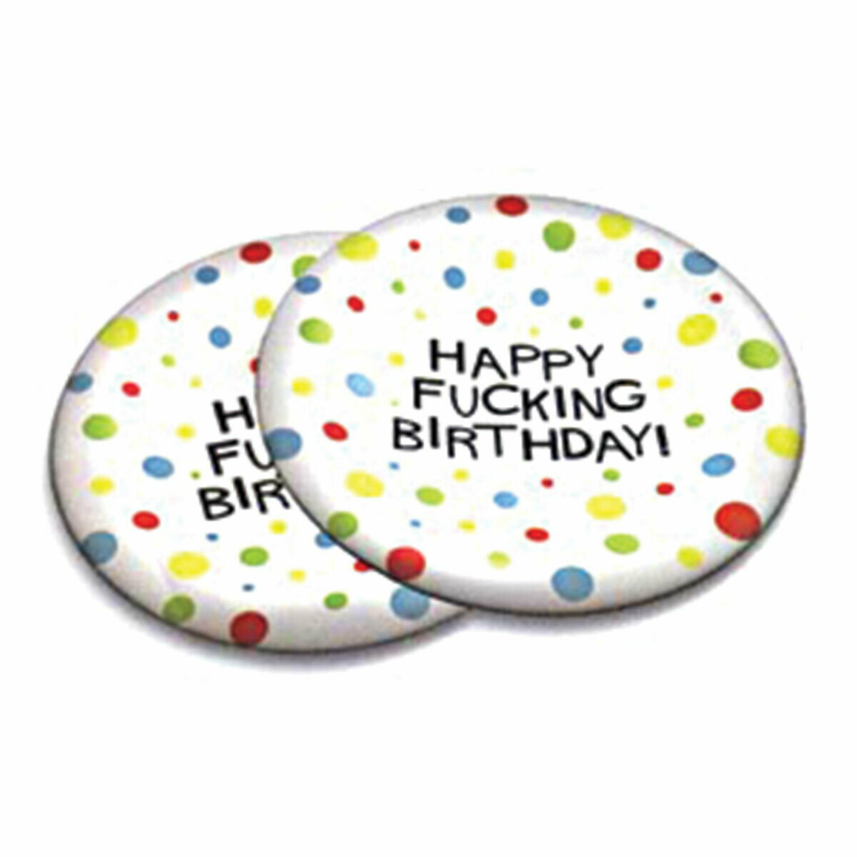 Happy F*cking Birthday Plates
