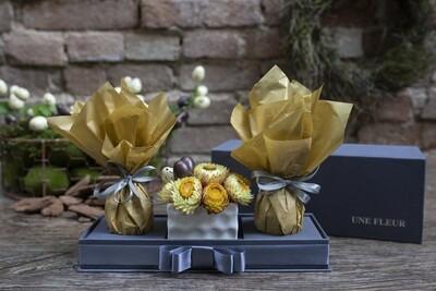Kit de flores para Pascoa com ovos de chocolate Kopenhagen - Amarelo
