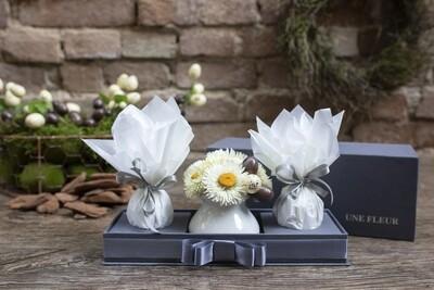 Kit de flores para Pascoa com ovos de chocolate Kopenhagen - Branco