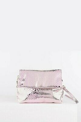 Snake Crossbody  Bag - Pink