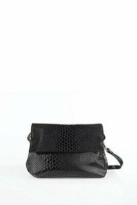 Snake Crossbody  Bag - Black