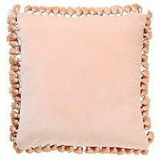 Velvet Tassel Cushion - Peach Crumble