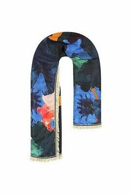 Scarf - Festival Flowers Blue