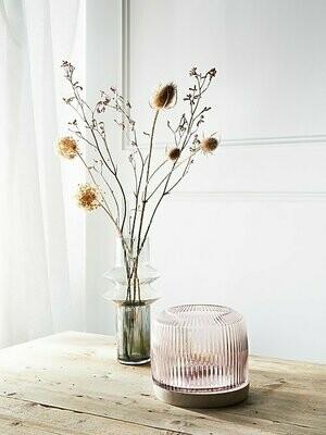 Pleat Vase-  Rose (L)