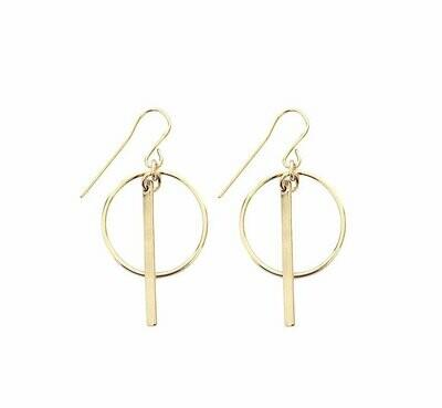 Misuzi - Ring & Bar Earring
