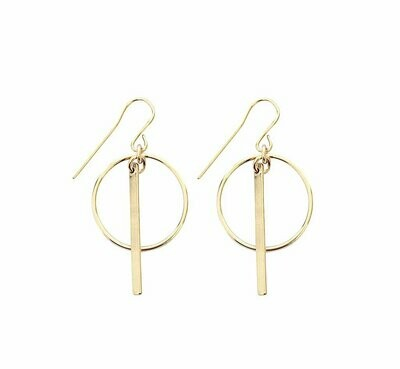 Ring & Bar earring