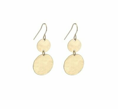 Double Mini & Large Disc Earring