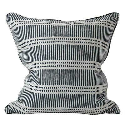 Dash Dot Indian Navy Cushion