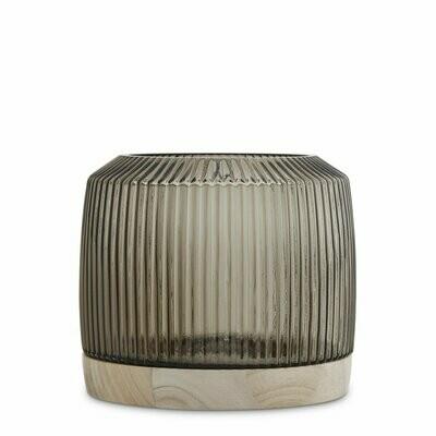 Pleat Vase- Smoke   (XL)