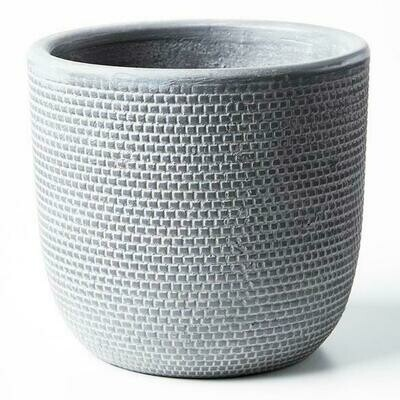 LARGE Tweed Planter - Charcoal
