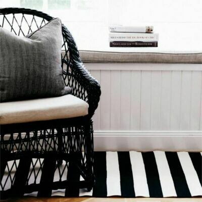 Doormat  - Catamaran Stripe BLACK