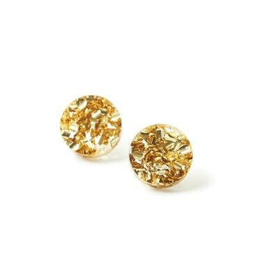 Circle Stud - Gold Dust