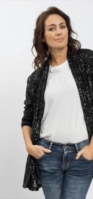Sequins Jacket - Black