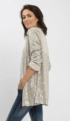 Sequins Jacket - Silver