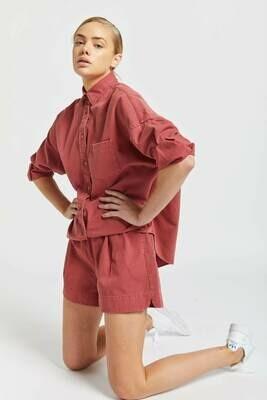 The Diaz Shirt - Cherry