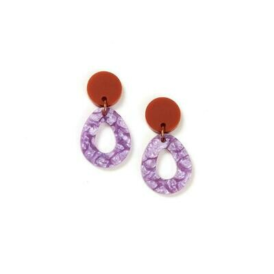 Tempest earrings - Clay /Lilac