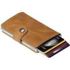 Secrid Mini Wallet- Vintage Cognac Silver