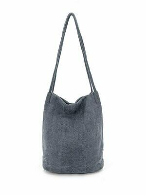 Natural Long Handle Bag - Navy