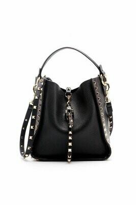 Inka Studded Bag (Black)