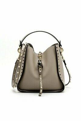 Inka Studded Bag (Taupe)
