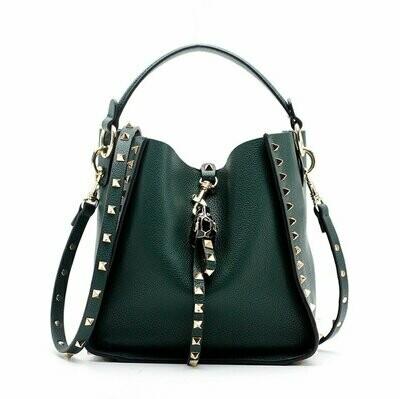 Inka Studded Bag (Emerald)