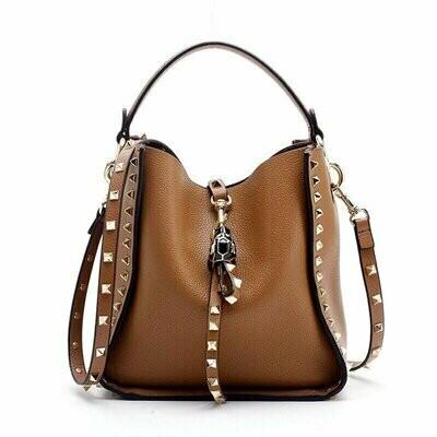 Inka Studded Bag (Tan)
