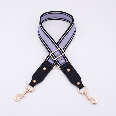 Bag Straps- Lilac Stripe