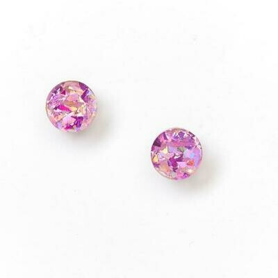 Mini Circle Stud - Pink