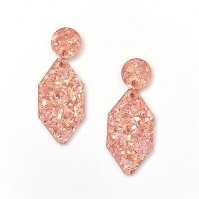 Diamond earrings - Peachy