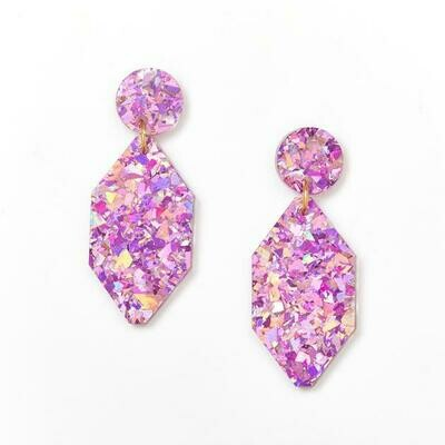 Diamond earrings - Pink