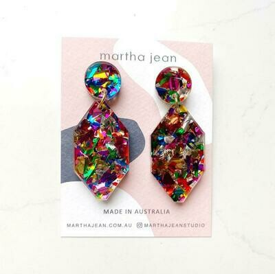 Diamond earrings - Rainbow