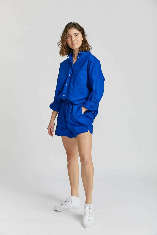 The Chiara Shirt - Royal Blue