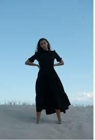 Peasant Dress - Black