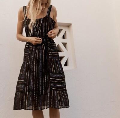 Maya Dress - Black Rainbow