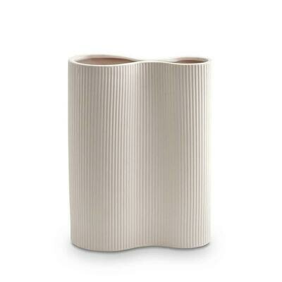 Ribbed Infinity Vase - NUDE Medium