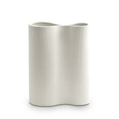 Ribbed Infinity Vase - SNOW Medium