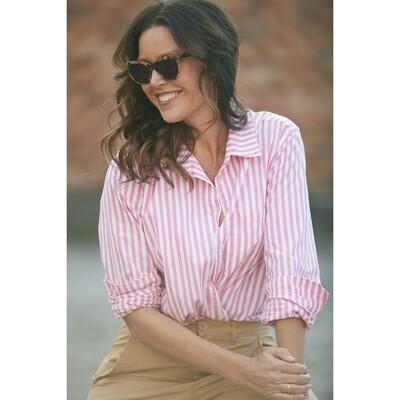 Franklin Shirt - Pink & White