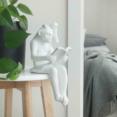 Shelf Monkey - White