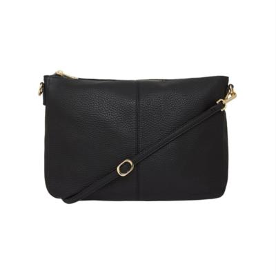 Bowery Shoulder Bag - Black Pebble