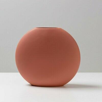 Round Flat Vase - Earth (large)