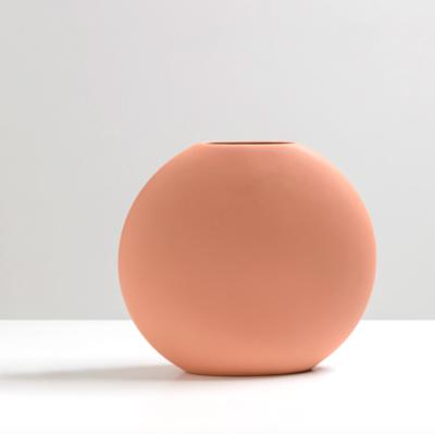 Round Flat Vase - Earth (medium)