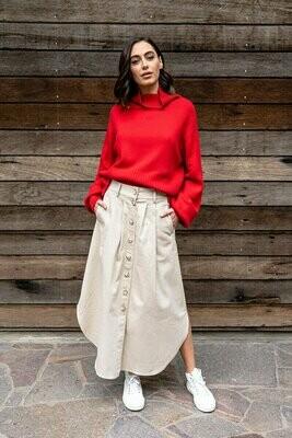 Avalon Midi Skirt - Taupe