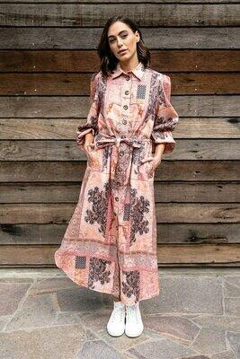 Palm Beach Dress - Paisley Linen