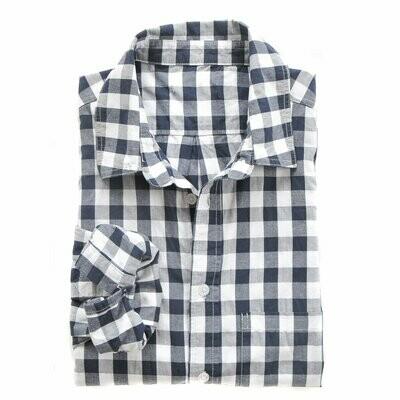 Franklin Shirt- Indigo & White Gingham