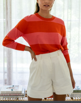 Rugby Knit - Red / Pink