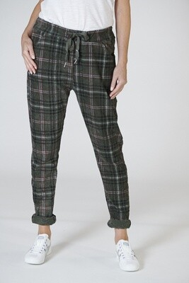 Derby Check Pant - Green
