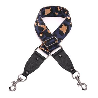 Bag Straps - Navy Leopard