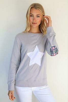 Bright Plaid Star Windy - French Grey