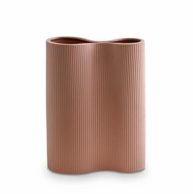 Ribbed Infinity Vase - OCHRE Medium