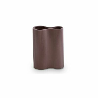 Ribbed Infinity Vase - Plum Small